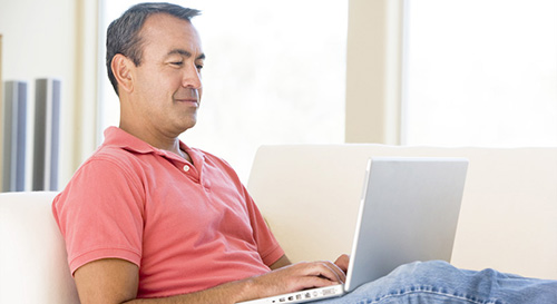 Man on a computer